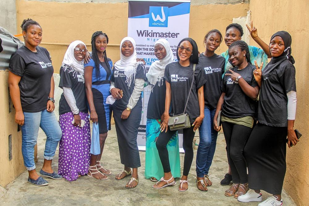 WM 10 female wokers WikiMaster Nigeria Lagos 180706