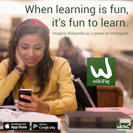 WikiFlip makes learning into a game.